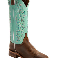 Justin Teal Bent Rail Cowgirl Boots - Square Toe - Sheplers