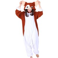 2017 New Kawaii Brown Gremlins Gizmo Cosplay Costume Onesuits Halloween Carnival Party Christmas Adult Onesuit pyjamas Pajamas