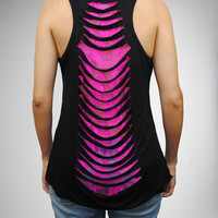 Marilyn Monroe Hot Lips Laser Back Junior Fitted Tank