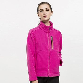 Women's Spring Fleece Softshell Jackets Outdoor Sports Thick Coats Hiking Camping Trekking Female Jacket