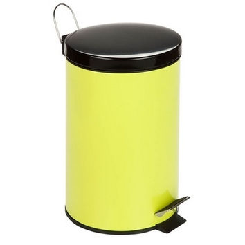 Steel Step Trash Can| Lime