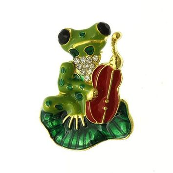 Frog Cello Pin And Brooch 233