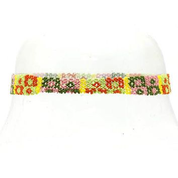 Mulit Color Head Band Diamond Print Hair Accessory