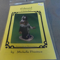 "Decorative Bear Doll, Fully Jointed, 4"" Edward, Jester Bear, by Michele Province, 1994"