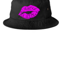 Kissing Lips Embroidery - Bucket Hat