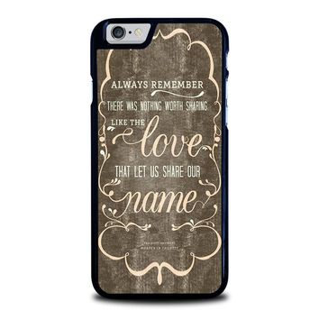 THE AVETT BROTHERS QUOTES iPhone 6 / 6S Case Cover