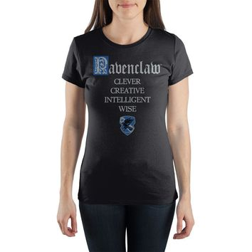 Harry Potter House of Ravenclaw Crest & Clever Women's T-shirt