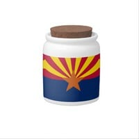 Arizona State Flag Candy Jar