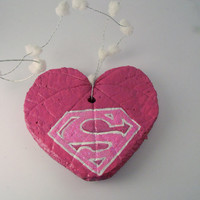 Super Woman Hanging Heart Leaf-------mom-girlfriend-wife-bff-aunt-you