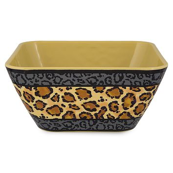 Disney Parks Animal Kingdom Mickey Icon Animal Print Bowl New