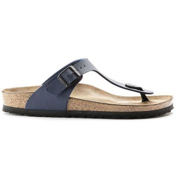 Birkenstock Gizeh Birko Flor Blue 143621 Sandals - Ready Stock