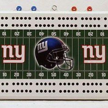 New York Giants NFL 2 Track Cribbage Board