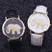 Cute Gold Elephant Watch + Gift Box