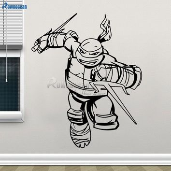 Ninja Turtles Wall Decal Boys Bedroom Superhero Wall Stickers Home Decor Kids Wall Decals Nursery Decor Removable Mural B604