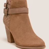 Quail chevron quilted bootie