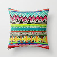 VIVID EYOTA Throw Pillow by Vasare Nar | Society6