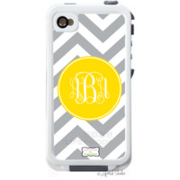   Monogram Decal for LifeProof® Case   Skin / Decal Life Proof iphone 4/4S-ALL DESIGNS   Lipstick Shades