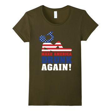 Make America Drunk Again T Shirt Funny 4th of July Shirt
