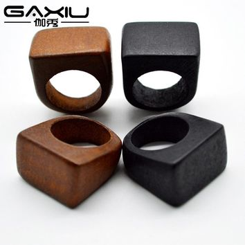 Wood Resin Wedding Rings Creative Nature Men And Women Wooden Ring Creative Handmade Gift Jewelry For Male And Female