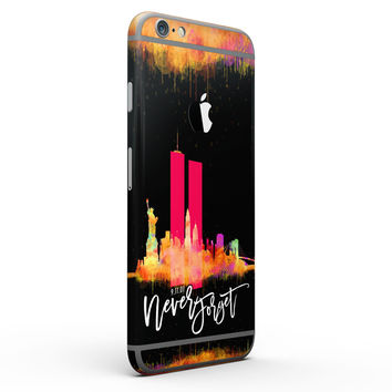 Never Forget 9/11 V12 - Six-Piece Skin Kit for the iPhone 6/6s or 6/6s Plus
