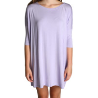 Lilac Piko Tunic Half Sleeve Dress