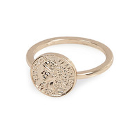River Island Womens Gold tone delicate coin ring