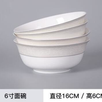 Korean style bone china tableware ceramics simple plate White color dinnerware Good quality dishes spoon bowl