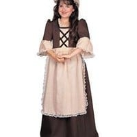 Big Girls' Colonial Girl Costume Large