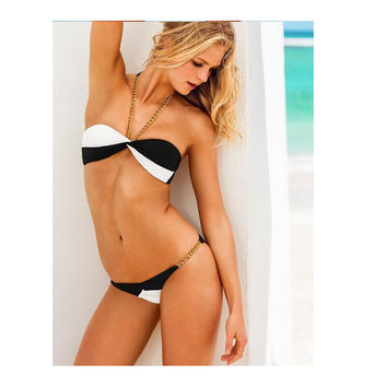 Sexy Swimsuit Hot Beach Summer New Arrival Sea Stylish Metal Chain Bikini [6048404545]