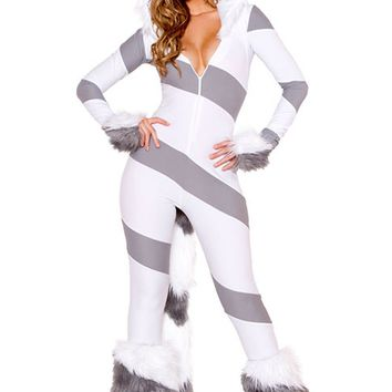 Atomic Gray Pretty Kitty Cat Costume