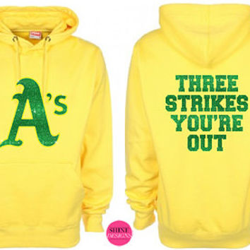 Oakland A's Glitter / Rhinestone Vinyl Iron On Transfer - DIY Heat Transfer