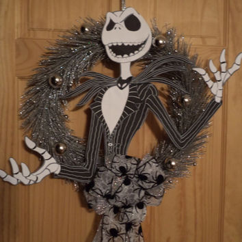 Price is on the rise again so act now  / Nightmare Before Christmas Jack Skellington / Wicked Wonderland Wreath