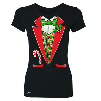 Sugar Christmas Tuxedo Cool Women's T-shirt Halloween Costume Tee