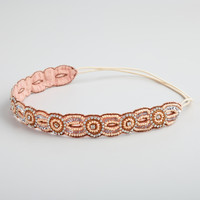 Blush Rhinestone Circles Headband - World Market