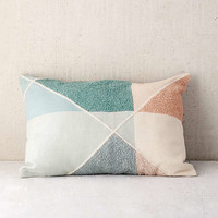 Crewel Colorblock Bolster Pillow | Urban Outfitters