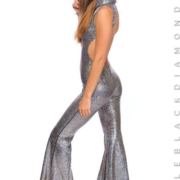 High Voltage Jumpsuit in Shattered Disco Ball