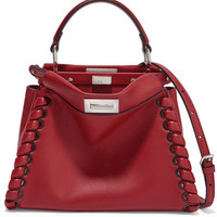 Fendi - Peekaboo small whipstitched leather tote