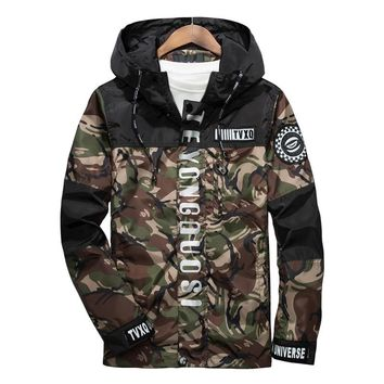 New Spring Men Brand Clothing 3m Reflective Jacket Casual Camouflage
