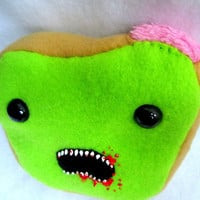 Zombie Toast - Undead Food Plush (Made to Order)