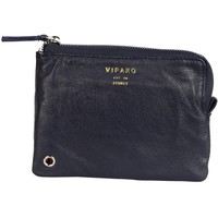 Navy Blue Recycled Leather Zip Pouch Wallet - LZP - Small Accessories - Mens