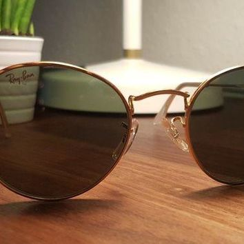 Gotopfashion VINTAGE B&L RAY BAN ROUND WIRE AVIATORS SUNGLASSES HIPPY 70S RETRO