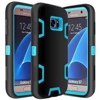 Hybrid Defender Rugged Shockproof Dirtproof Case Cover for Samsung Galaxy S8 Plus S7 Edge S7 S6 Edge Plus for iPhone X 7 Plus 8