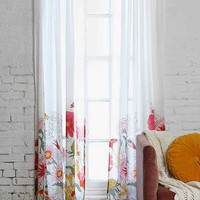 Plum & Bow Wallflower Curtain- Ivory 52x84