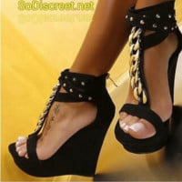 ***HOT ITEM*** Open Toe Platform Wedges Sizes 4-10.5 Available