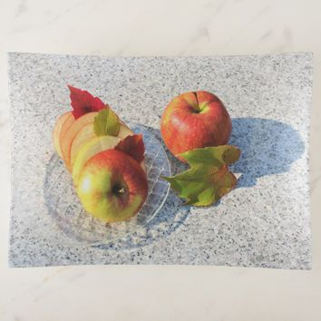 Marble Background Autumn Apple Trinket Trays