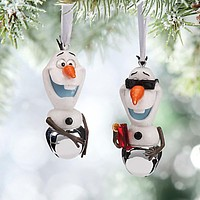 Disney Christmas Ornament Winter and Summer Olaf Jingle Bells New with Tags