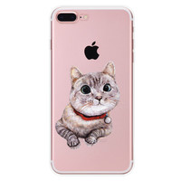 Lazy Cat iPhone 7 7Plus & iPhone se 5s 6 6 Plus Case Cover +Gift Box-90