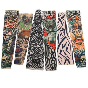 Best Sale Sclm Lot 6 Pcs Temporary Fake Slip On Tattoo Arm Sleeves Kit