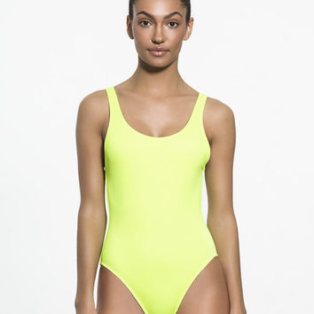 The Anne-marie One Piece in Pop Yellow