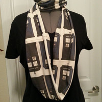 Doctor Who TARDIS Infinity KNIT scarf - made to order